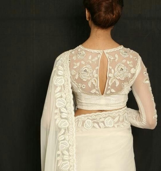 9baa9c237193e 101 Stunning Saree Blouse Back Neck Designs