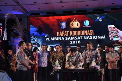Gubernur Ridho Teken MoU Layanan Samsat Online Nasional