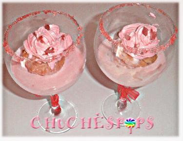cupcakes de jamon serrano con frosting de queso semicurado