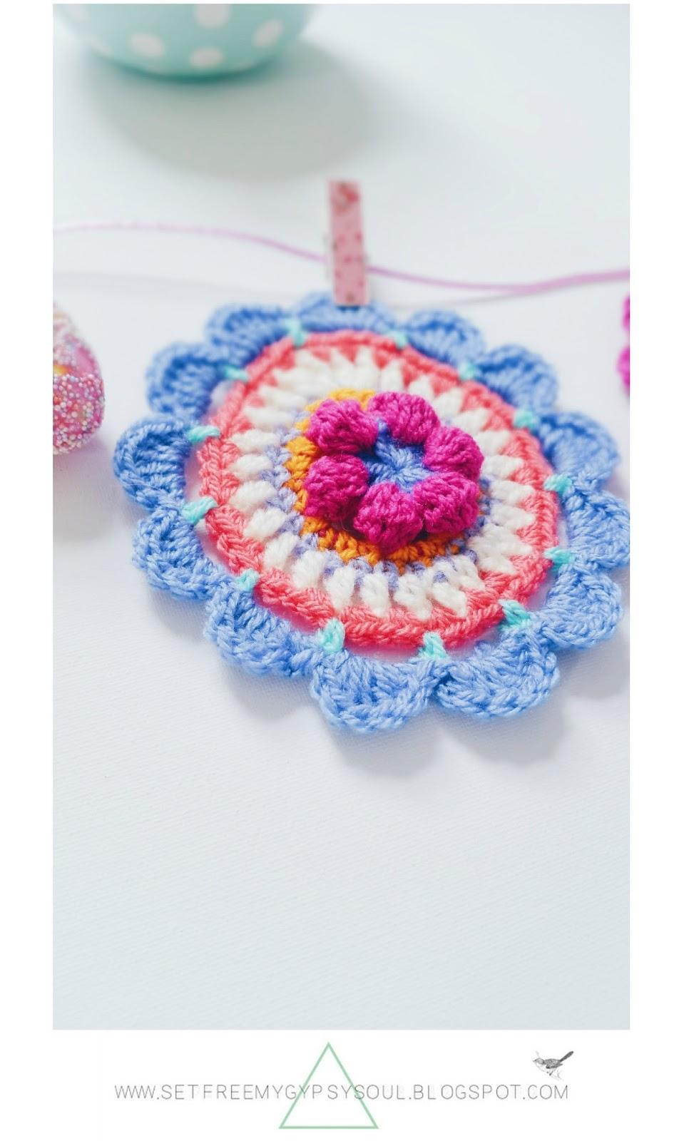 easter egg crochet free pattern bohemian mandala