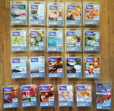 Better Homes & Gardens Scented Wax Melts from Walmart – Spring 2017 Scents
