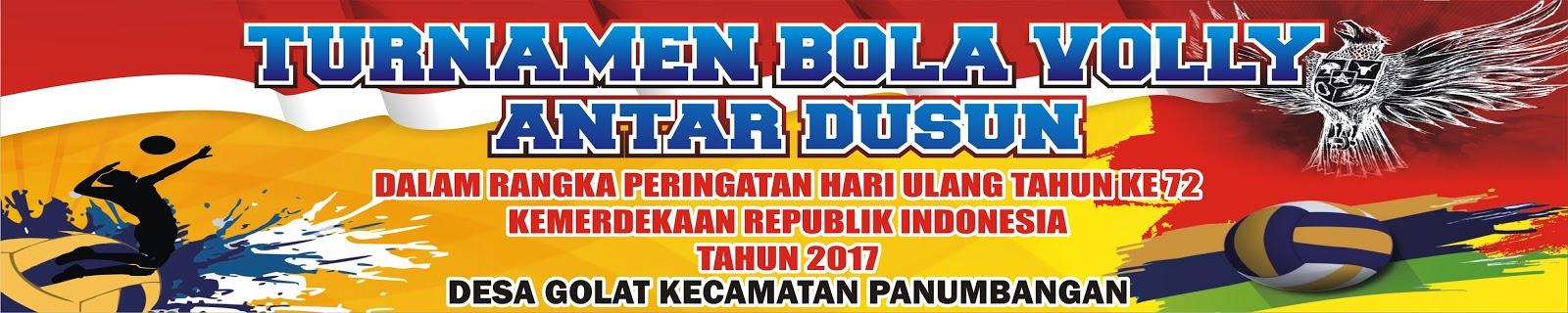 Spanduk Turnamen Bola Volly Antar Dusun Cdr