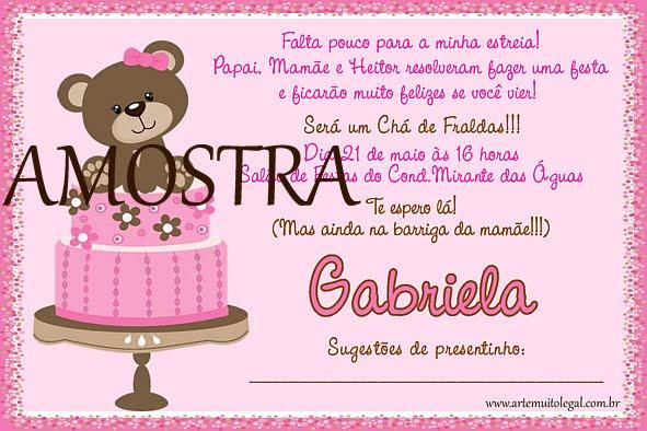 Mensagem De Convite De Cha De Fralda: Frases Para Convites De Cha De Bebe