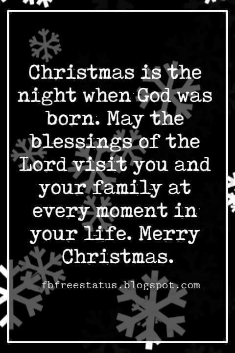 Merry Christmas Blessings