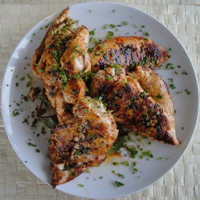 دجاج مشوى بالزعتر