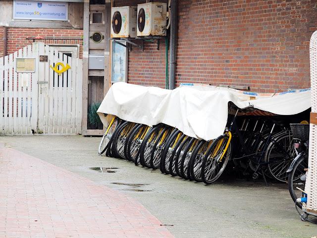 Langeoog, Fahrräder, Winterschlaf, Mietfahrrad