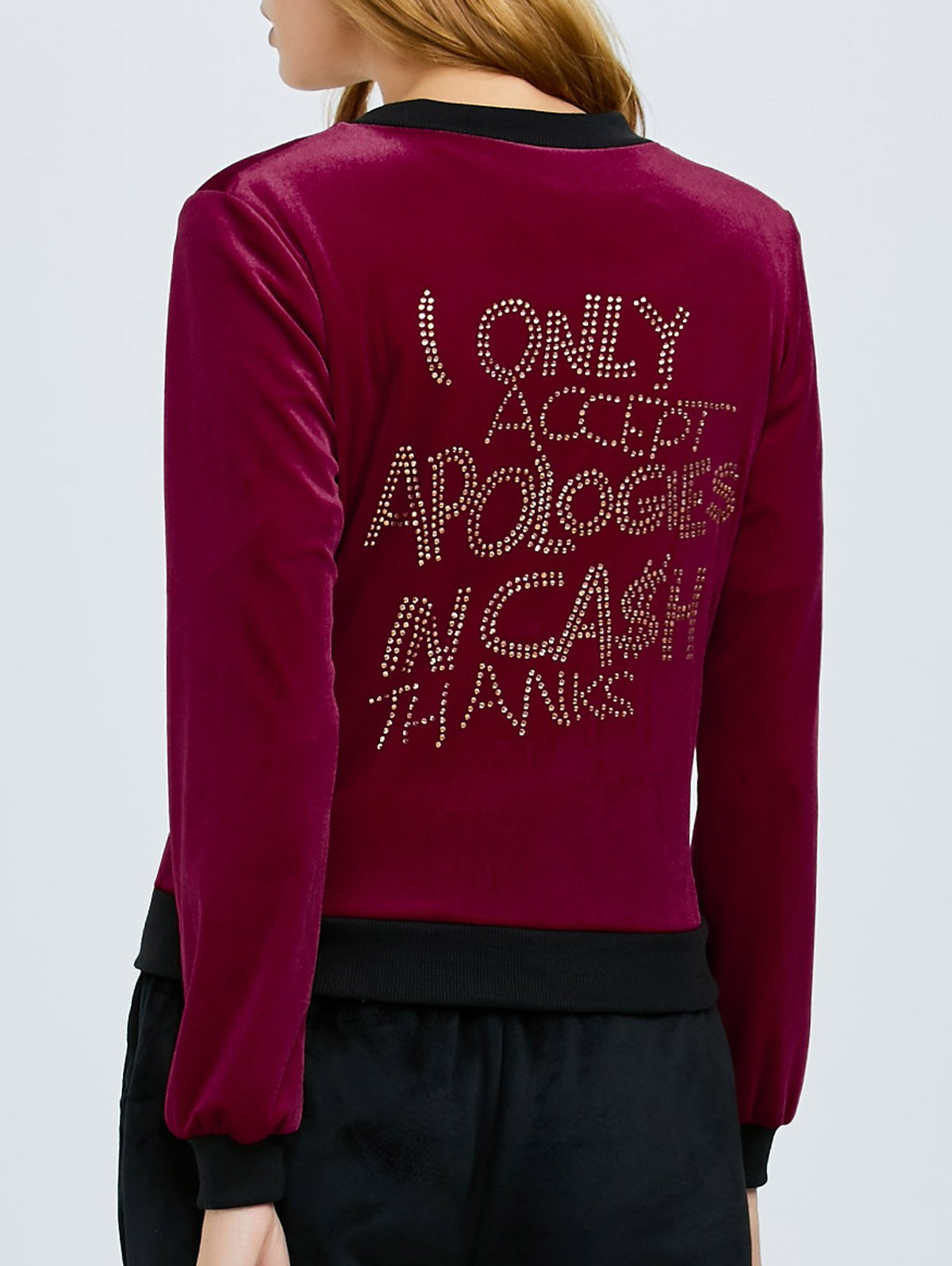 Velvet Rhinestone Embellished Jacket