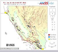 California Earthquake Map