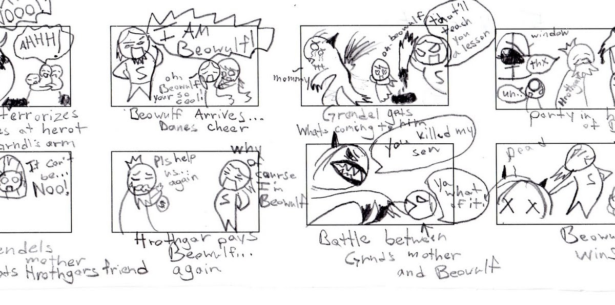 English 12 McKinley HS: Beowulf Comic Strip Assignment