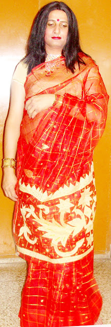 boy wearing wedding chooda and saree