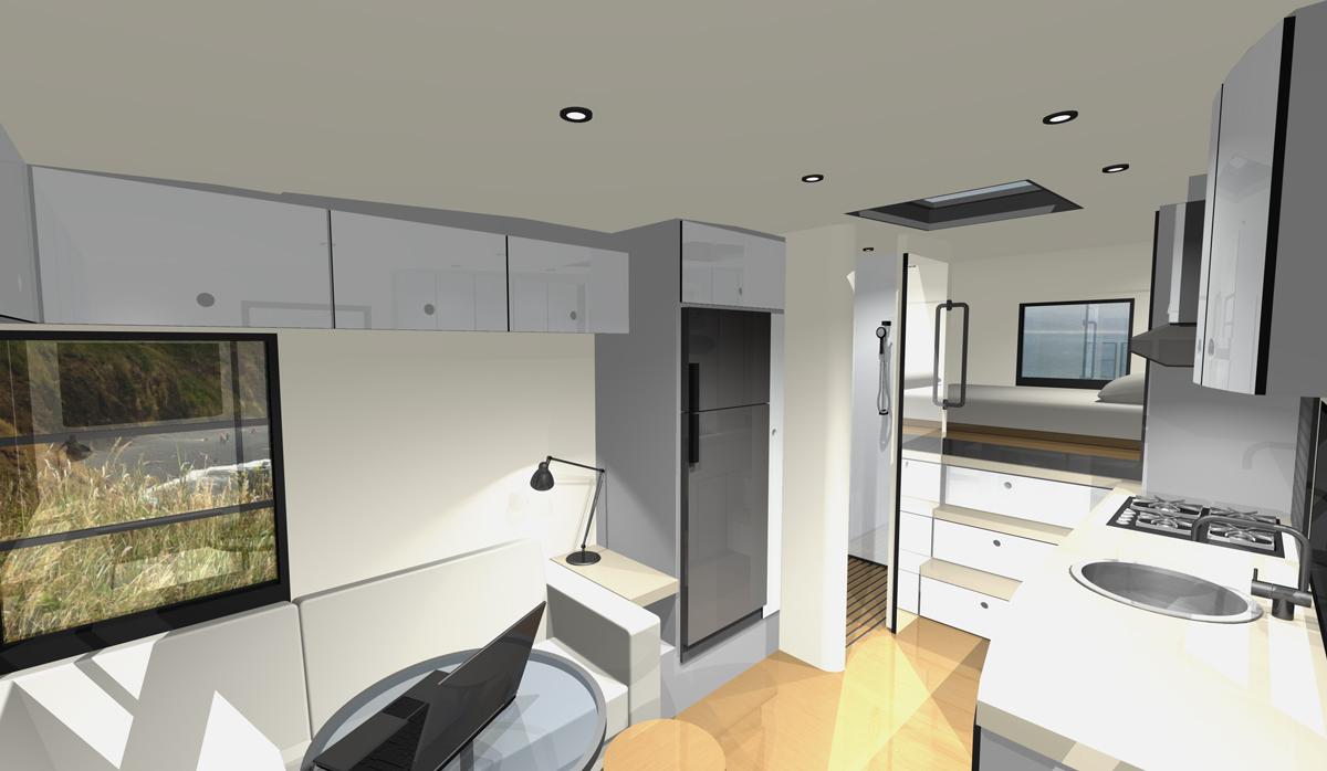 Mcm design custom motorhome design for Rv interior designs