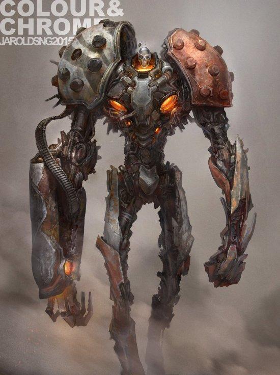 Jarold Sng artstation deviantart arte ilustrações modelos 3d ficção científica futuro robôs