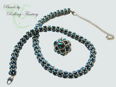 Kette Lana mit Beaded Bead  Kitty