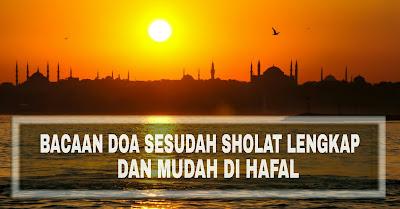 bacaan doa setelah sholat