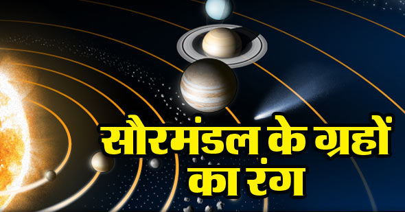 Solar System Planet Colours in Hindi