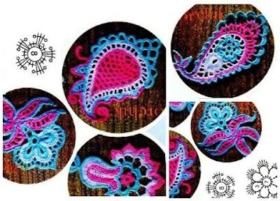 Eternos Paisley patrones graficos crochet