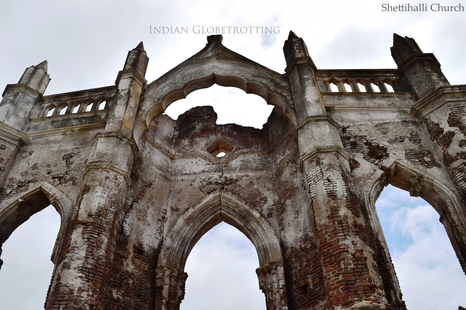 Arches of Shettihalli Church built in Gothic Style