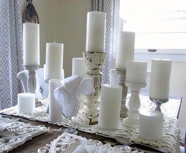 All white centerpiece ideas