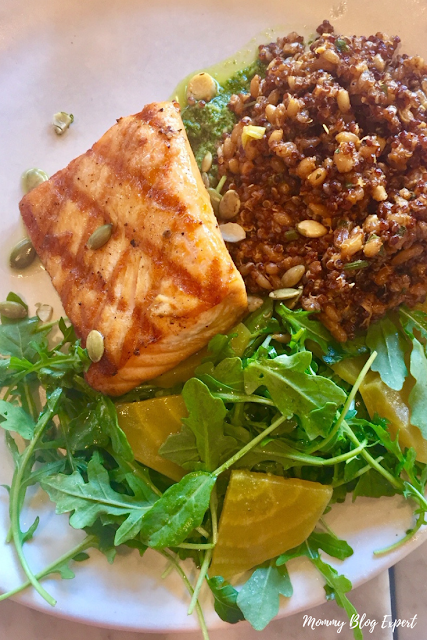 Grilled Salmon with Ancient Grains