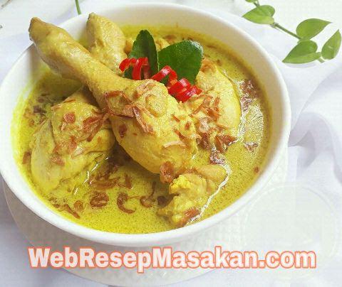 Opor Ayam Kuning, resep opor ayam kuning,