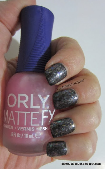 Orly Matte FX Pink Flakie Top Coat