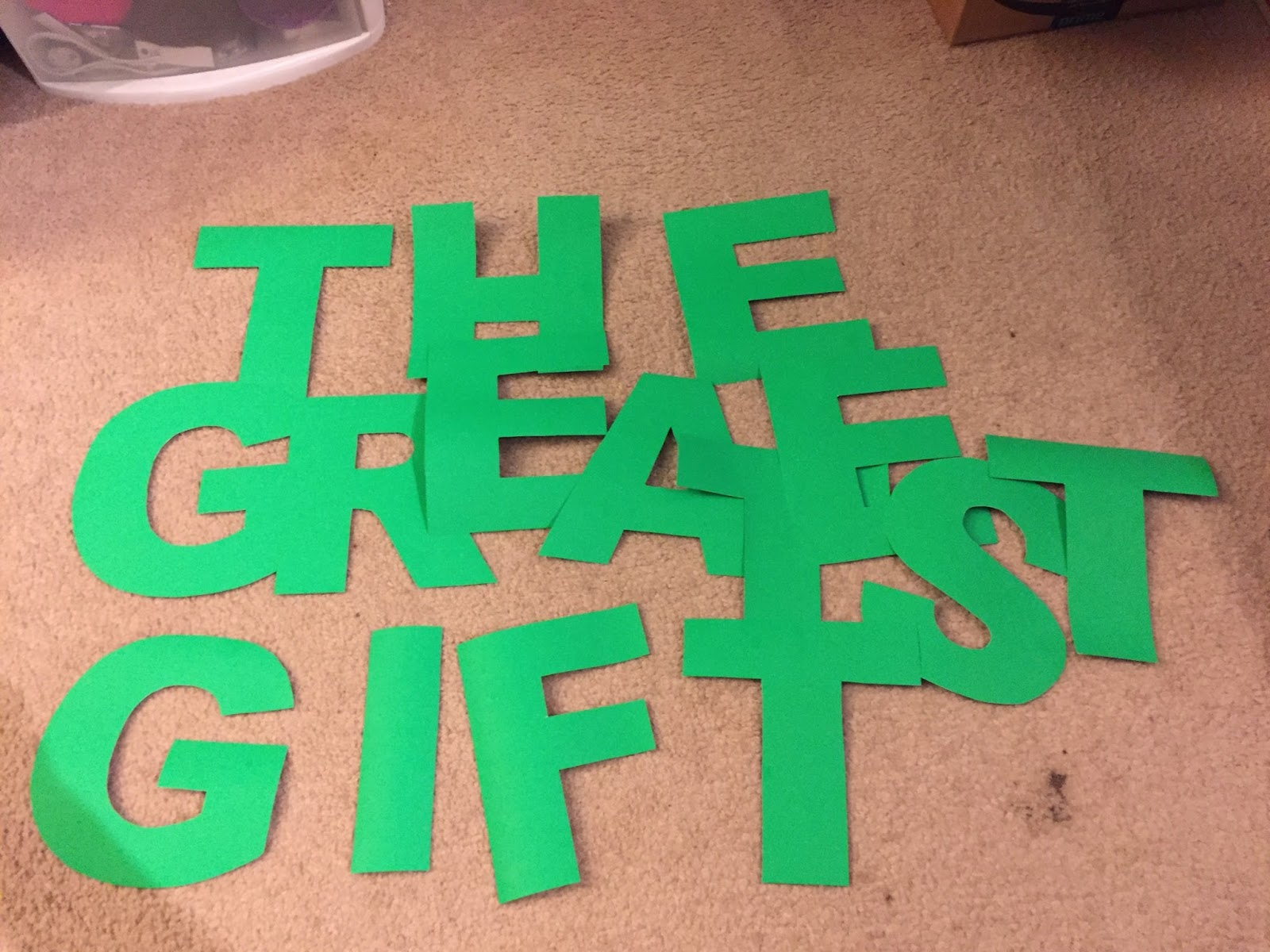 i also put in a couple hours making giant poster board letters for the christmas parade float for the younger kids school then there was the time i took - Giant Christmas Hours