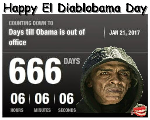 Chattering teeth happy el diablobama day only 666 days - When is obama out of office ...