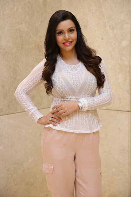 Kyra Dutt in Tight White Top Trousers at Paisa Vasool audio success meet ~  Exclusive Celebrities Galleries 006.JPG