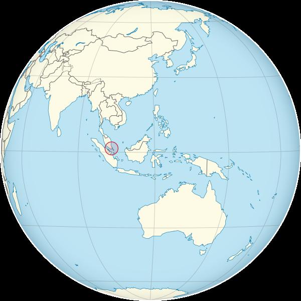letak Singapura
