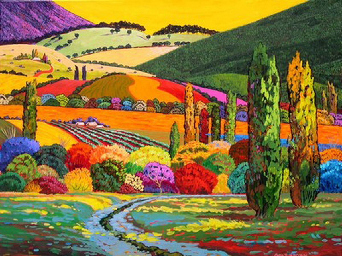 Cuadros modernos pinturas y dibujos cuadros de paisajes for Imagenes de cuadros modernos