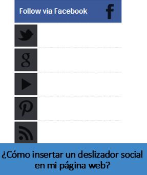 ¿Cómo insertar un deslizador social en mi página web?
