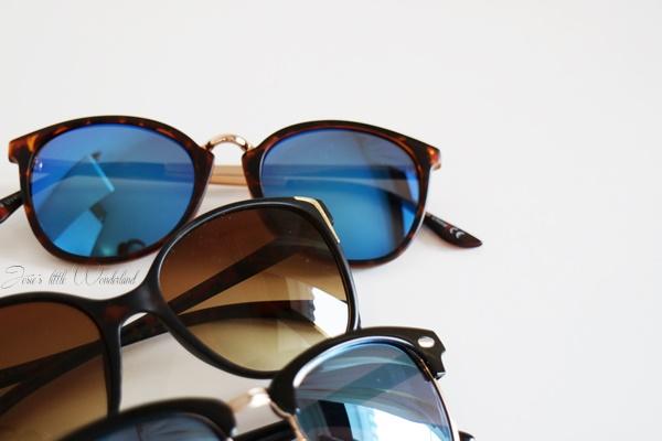 Shoppingausbeute Februar - www.josieslittlewonderland.de - fashion, new yorker shoppingausbeute, haul,sunglasses, sonnenbrille mit blauen gläsern