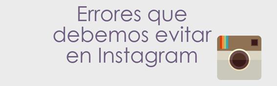 Redes Sociales, Infografía, Infographic, Social Media, errores, Instagram,