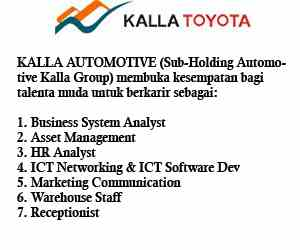 Lowongan Kerja di Kalla Automotive