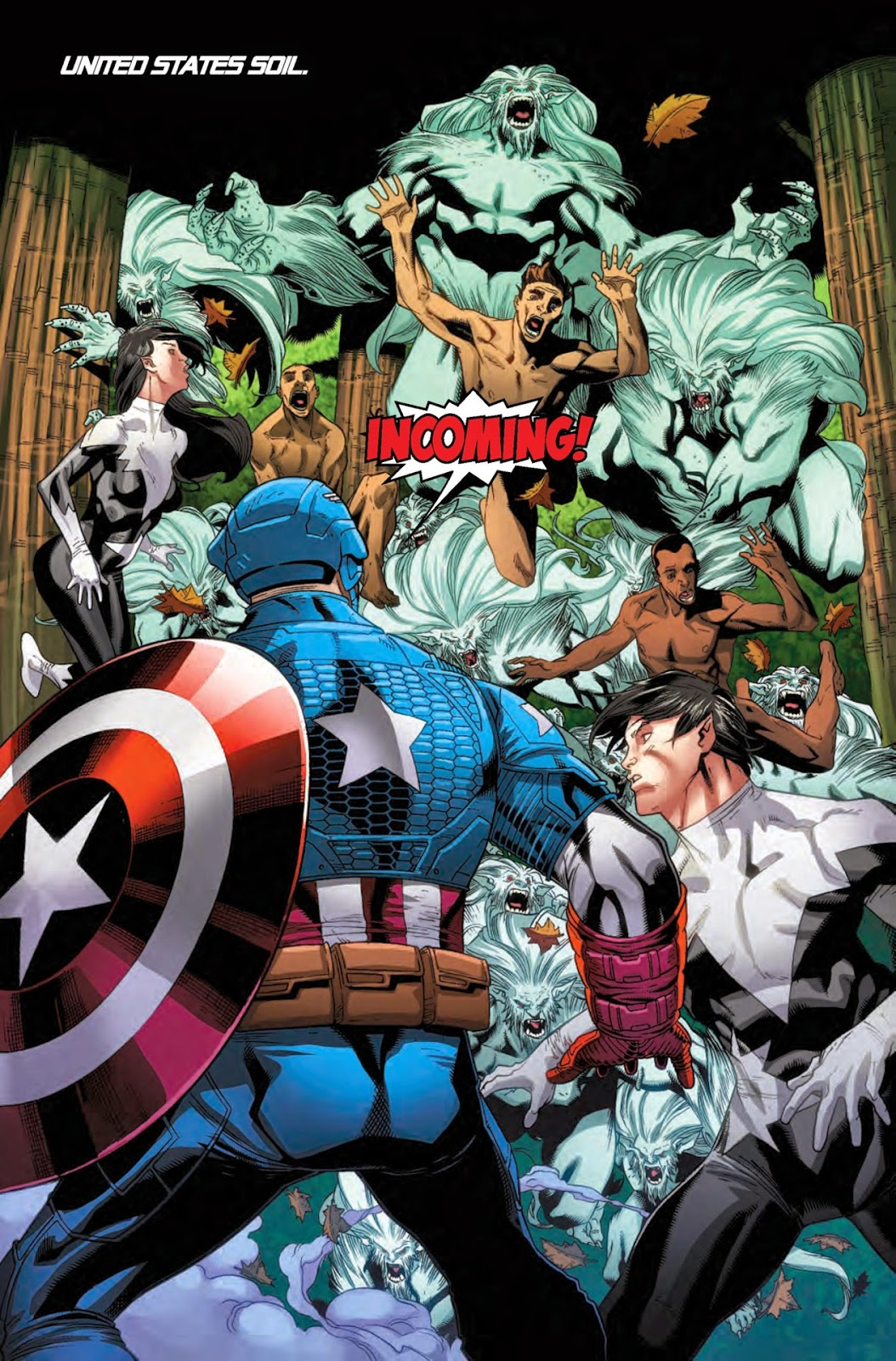 Avengers in Amazing X-Men stoping Wendigo