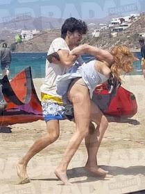 Lindsay Lohan and Egor Tarabasov fight