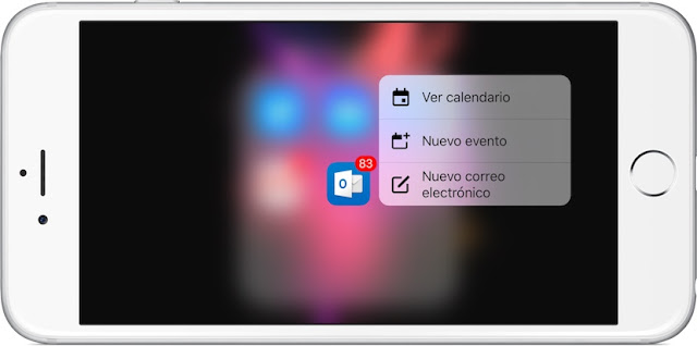 3D Touch-iOS-outlook