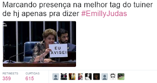 Marcos Carta de Adeus Emilly - Twitter