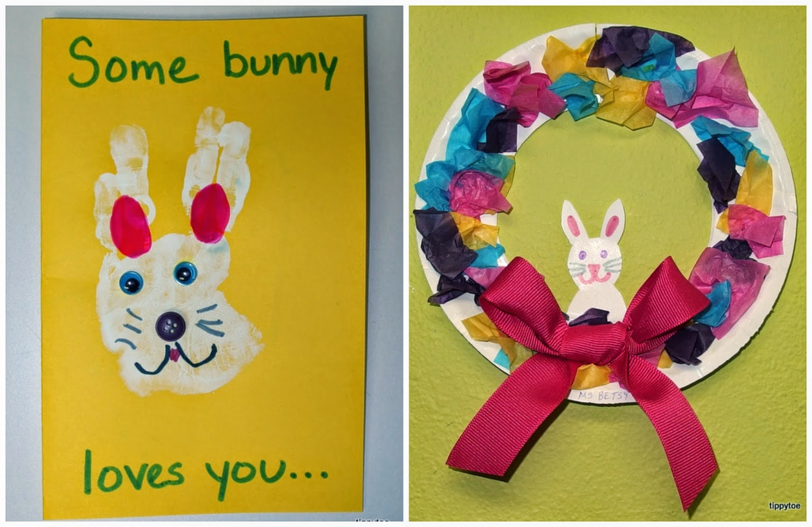 Tippytoe Crafts Bunny Card And Easter Wreath