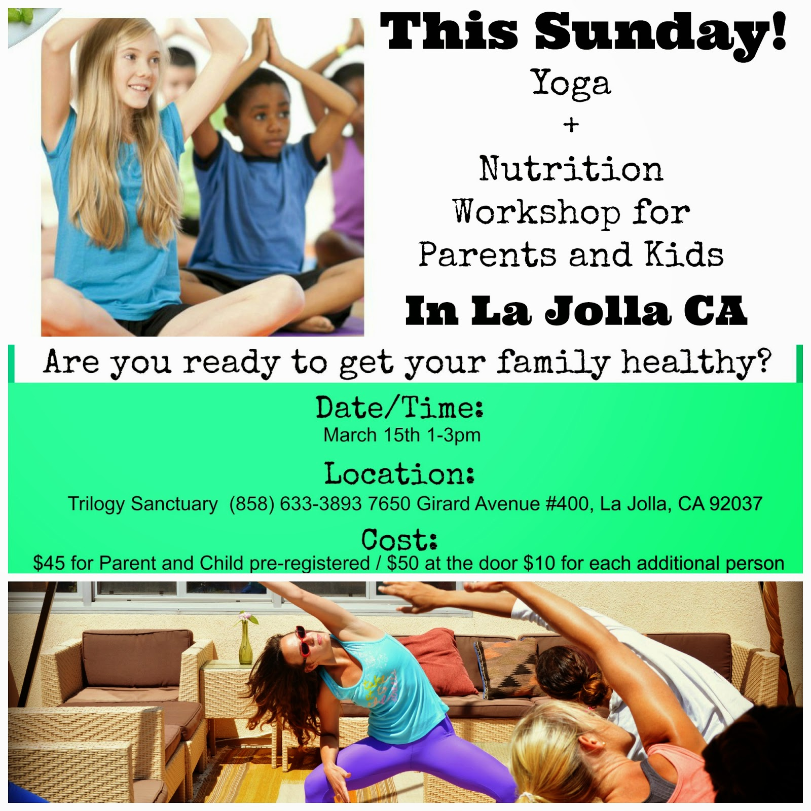 Mom What S For Dinner Parents And Kids Yoga And Nutrition Workshop