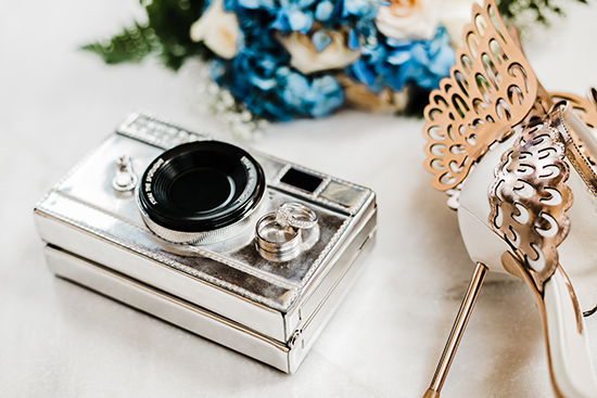 Brandy and Armando SF City Hall Wedding | Rings and Kate Spade Camera Clutch