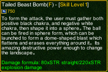 naruto castle defense 6.0 naruto Tailed Beast Bomb detail