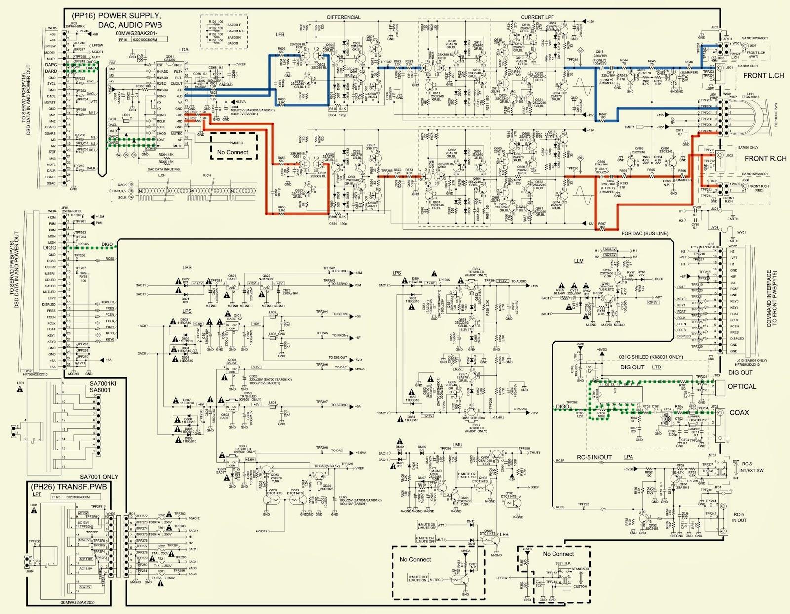 96 s10 wiring diagram cd player marantz - sa7001 - schematic - (circuit diagram) - super ... #4
