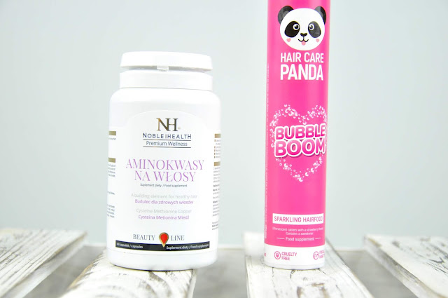 suplementy diety noble health hair care panda bubble boom i aminokwasy na włosy