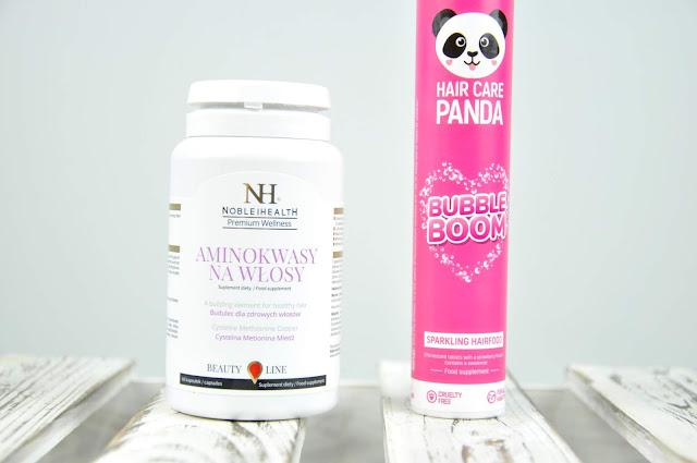 suplementy diety noble health hair care panda bubble boom i aminokwasy na włosy