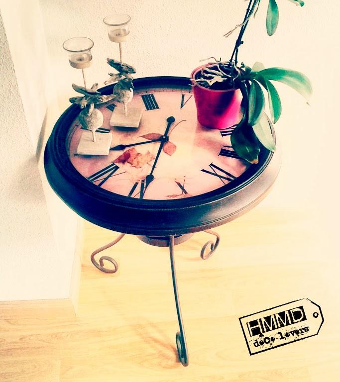 mesa reloj vintage regalo original romántico HMMD table clock romantic gift metal