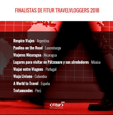 Finalistas Categoría Mejor Contenido en el Concurso de Bloggers FITUR 2018
