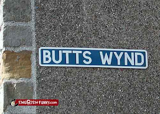 butts wynd st andrews scotland funny sign for americans