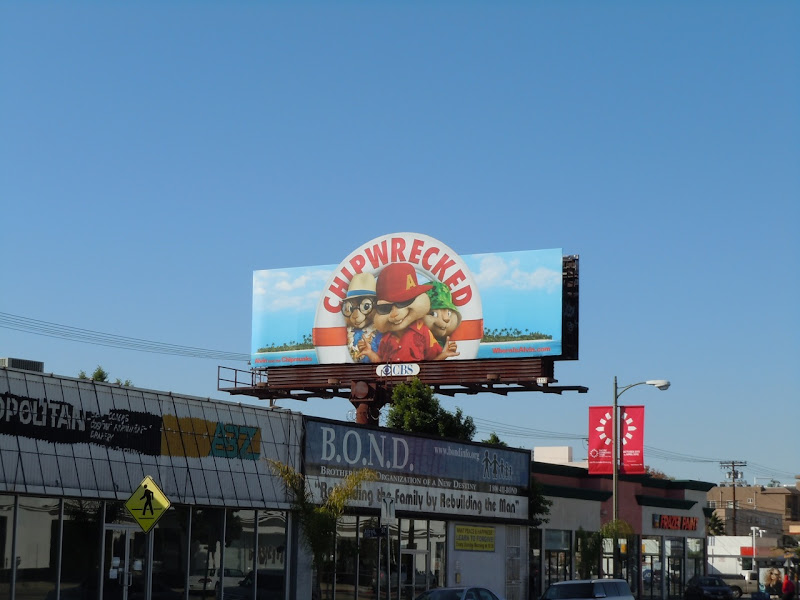Alvin and the Chipmunks 3 movie billboard
