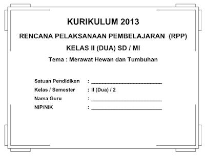 RPP SD Kurikulum 2013 Kelas 2